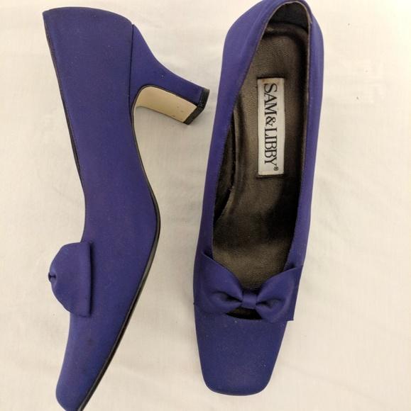1aaab792069 SAM   LIBBY vintage purple ♤ PUMPS. M 5ab120ab8df470e6f6fd6e03